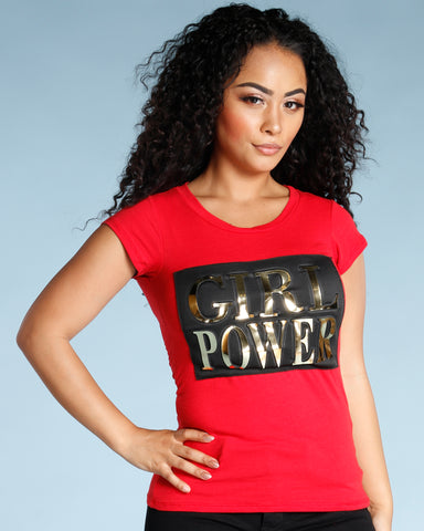 GIRL POWER TEE - RED