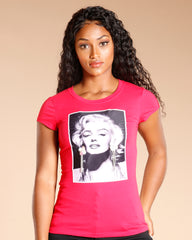 Marilyn Earring Patch Tee - Red