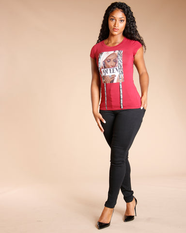 Queen Love Tee - Burgundy
