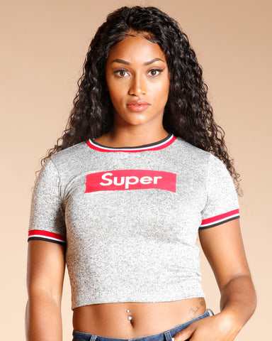 Super Box Taping Tee - Heather Grey