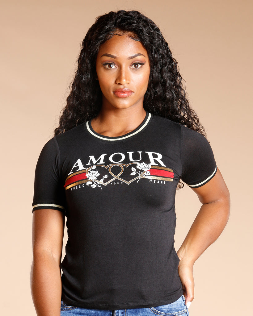 AMOUR FOLLOW YOUR HEART TEE