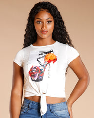 Fashion Rose Shoe Tee (Available In 2 Colors)