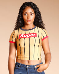 Super Stripe Tee (Available In 2 Colors)