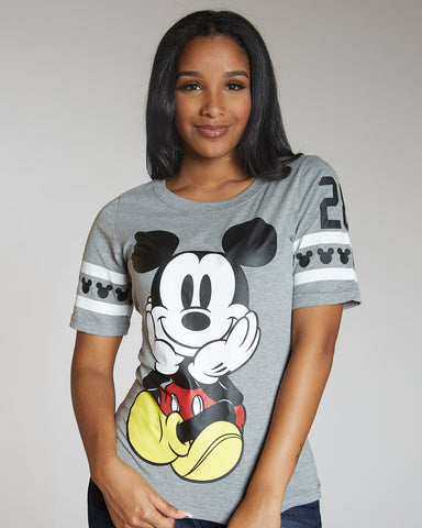 Front And Back Mickey  Print Tee