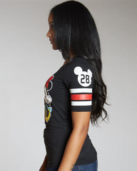 VIM VIXEN Front And Back Mickey And Minnie Print Tee - Black - ShopVimVixen.com