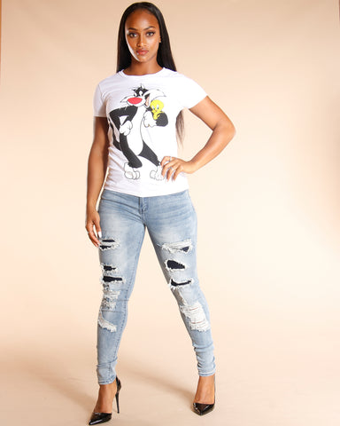 Sylvester And Tweety Tee