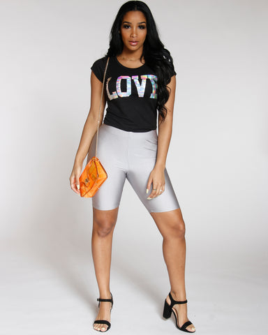 Love Holographic Tee