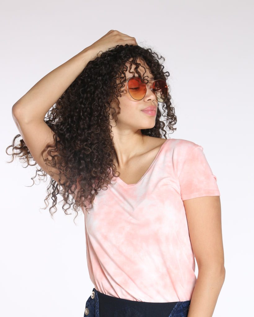 VIM VIXEN Bored Of You Tie Dye Top - Coral - ShopVimVixen.com