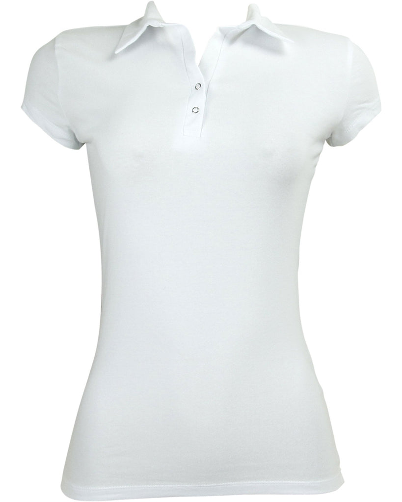 Icy Fashion - Women's Polo Two Snap Button Shirt - V.I.M. - 1