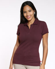 Dickies Dickies Two Button Polo Shirt - Burgundy - ShopVimVixen.com
