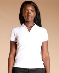 TWO BUTTON BACK TO SCHOOL POLO SHIRT - WHITE