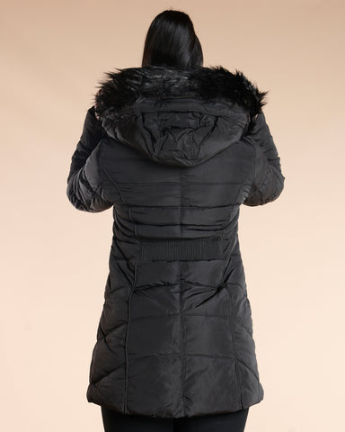 Fur Hood Long Heavy Jacket