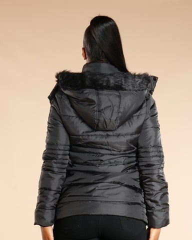 Fur Hood Long Jacket