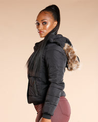 VIM VIXEN Fur Lined Hooded Jacket - ShopVimVixen.com