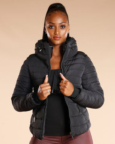 Fur Lined Zipper Jacket
