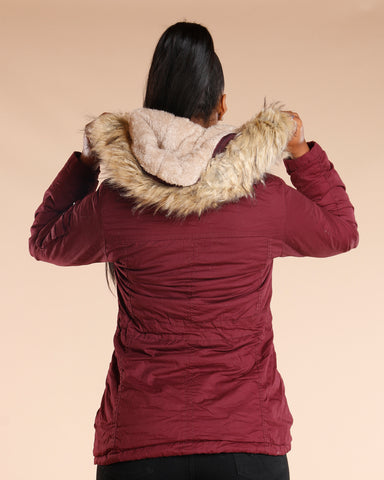 Burgundy Lightweight Anorak Jacket