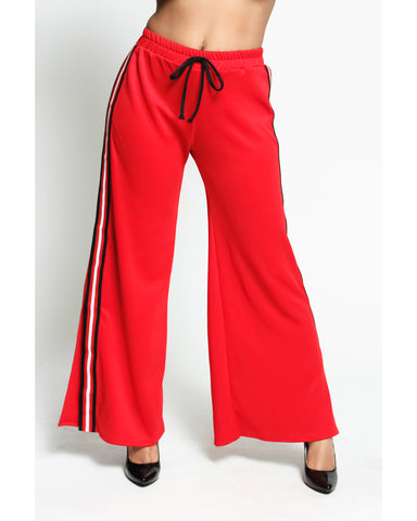 Palazzo Scuba Stripe Pants (Available in 2 colors)