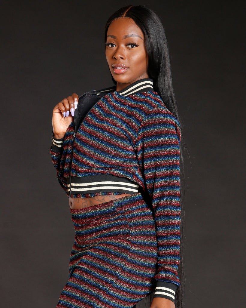 Remy Ma Bomber Jacket Multicolor