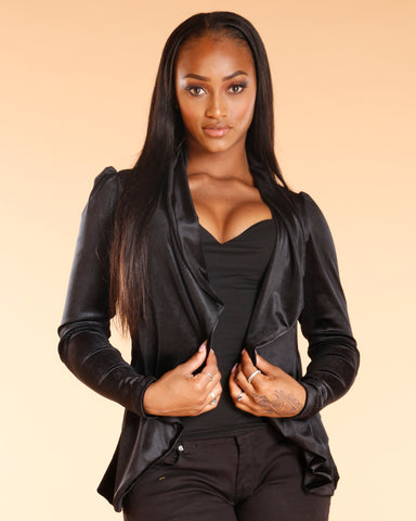 Black Velvet Fashion Blazer