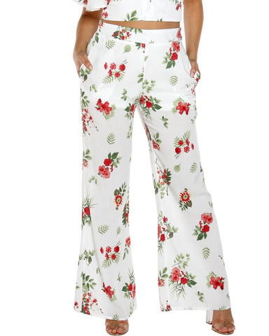 LIN FLORAL High waist PANTS (AVAILABLE IN 2 COLORS)