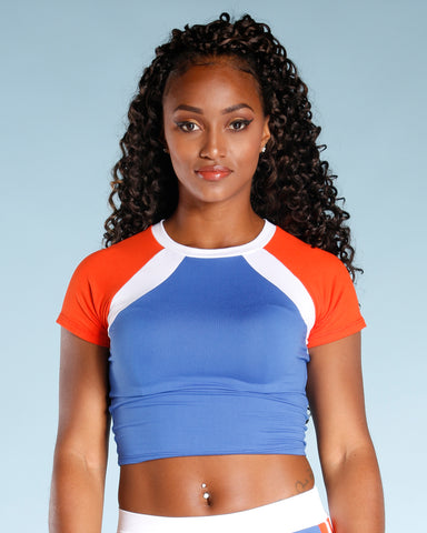 Side Stripe Crop Top (Available In 2 Colors)