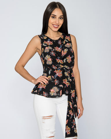 Paisley Front Tie Top (Available in 2 colors)