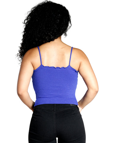 RIBBED BUTTON TANK TOP (AVAILABLE IN 2 COLORS)