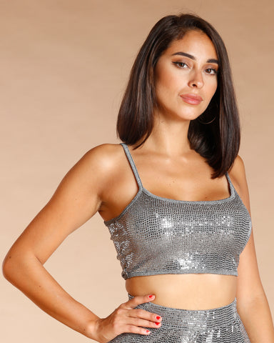 Sequin Crop Top (Available In 2 Colors)