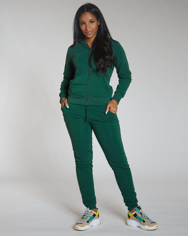 Green Knitted Fleece Joggers