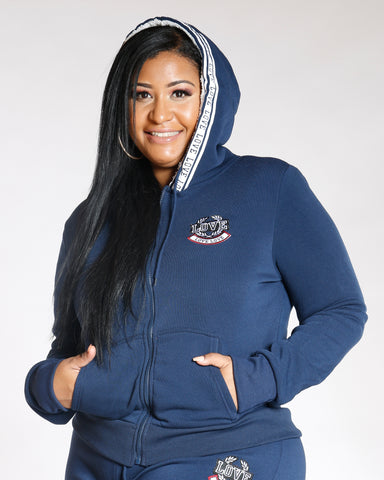 Navy Plus Love Fleece Hoodie