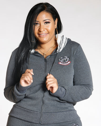 Charcoal PLUS LOVE FLEECE HOODIE