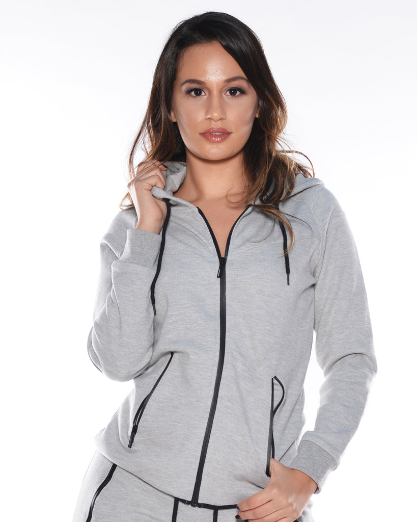 VIM VIXEN Tech Fleece Side Zipper Hoodie - ShopVimVixen.com