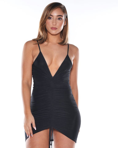 Sexy Runched Mini Dress (Available in 2 colors