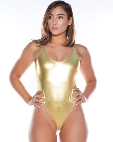 Metallic Tank Bodysuit (Available in 2 colors)