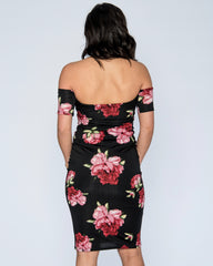 BETTY FLORAL OFF THE SHOULDER DRESS (Available in 2 colors)