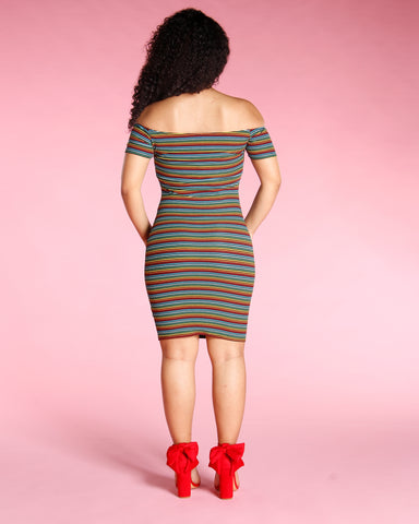 Multi Stripe Dress (Available In 2 Colors)