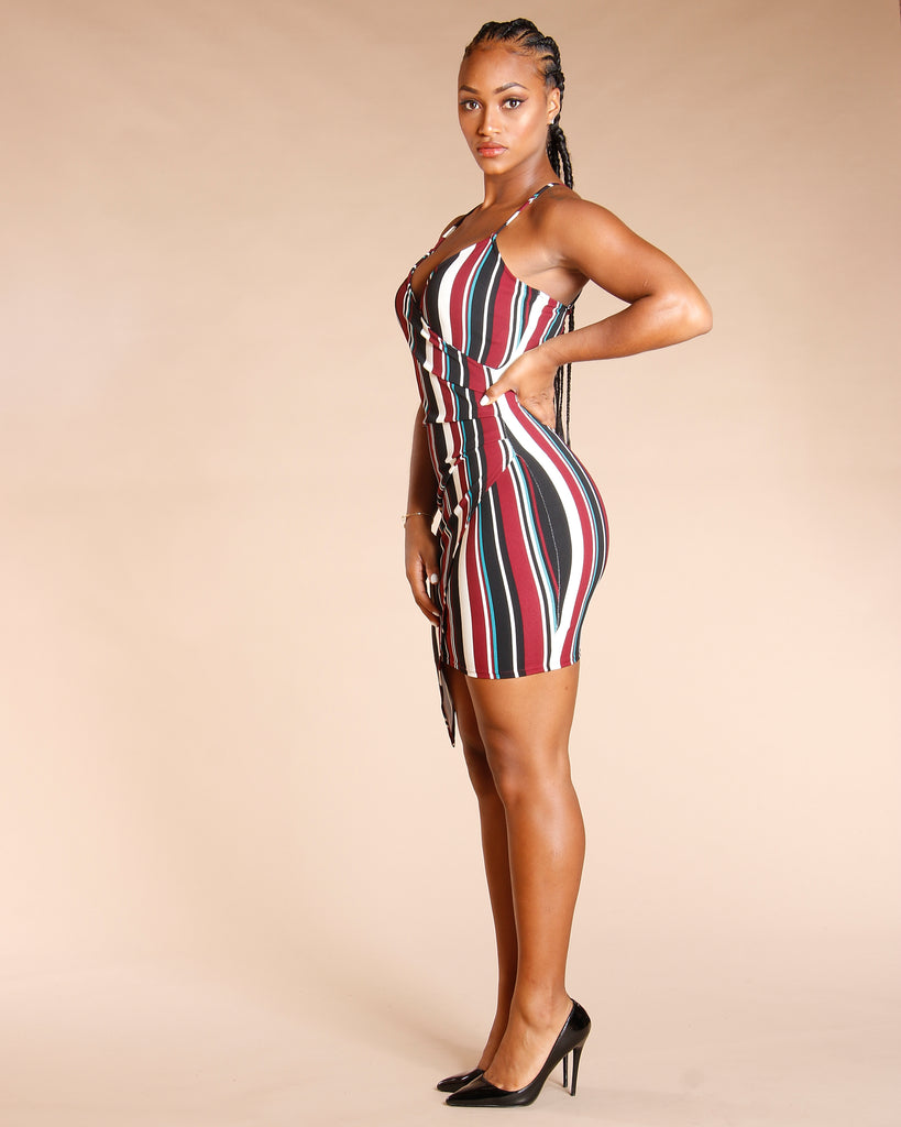 RUCHED SURPLICE WRAP DRESS (AVAILABLE IN 2 COLORS)