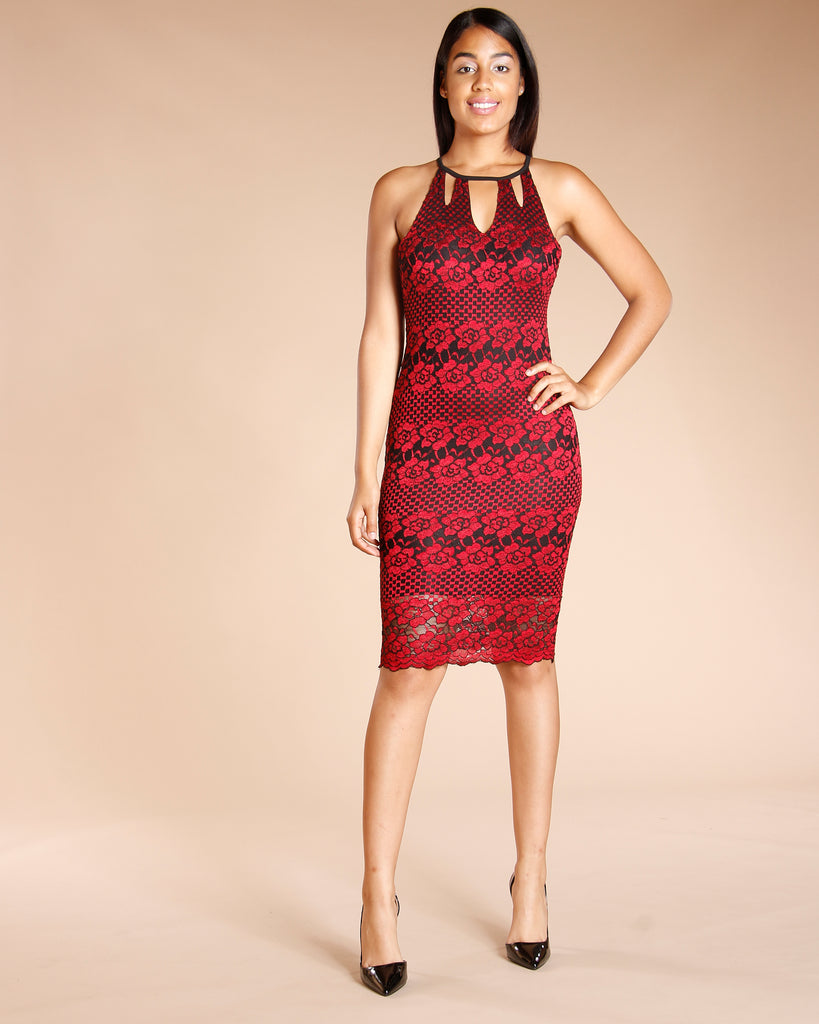 Floral Lace Dress (Available In 2 Colors)