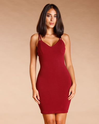 DOUBLE STRAP MINI DRESS (AVAILABLE IN 2 COLORS)