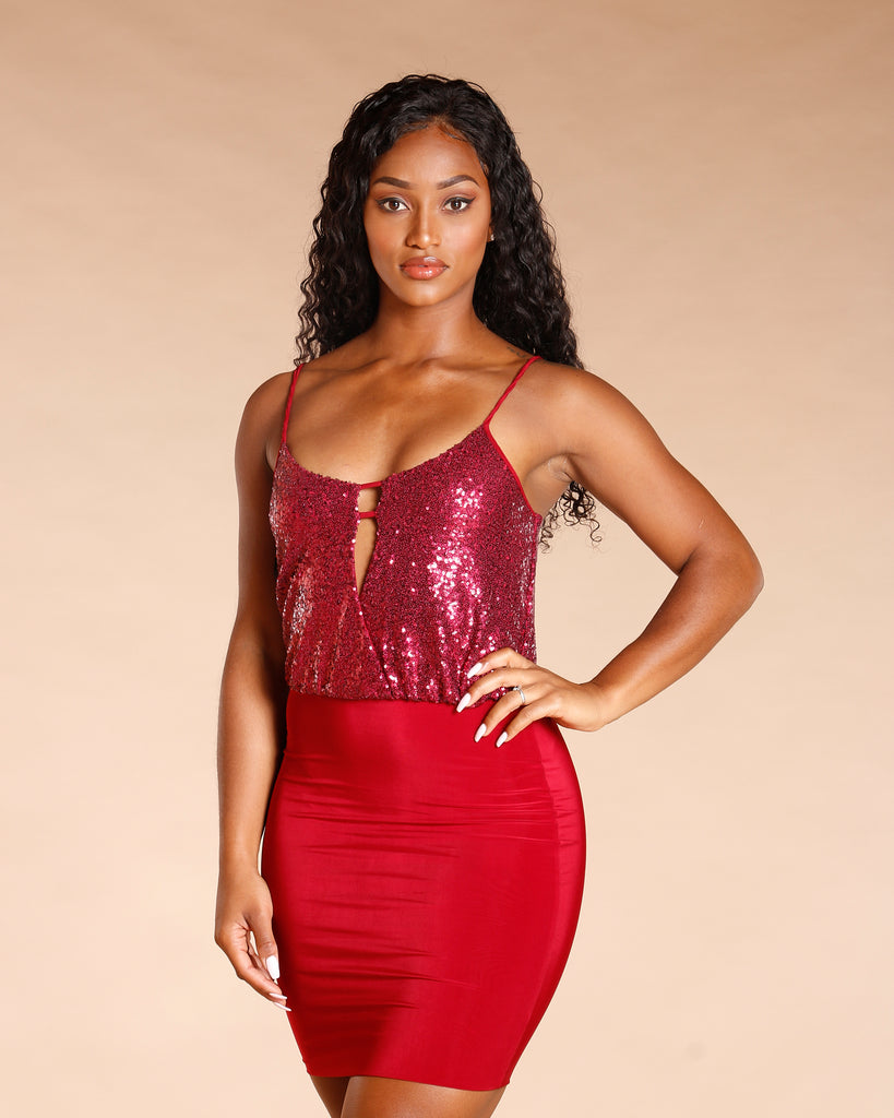 Strappy Sequin Dress (Available In 3 Colors)