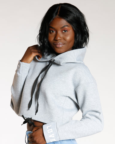 Heather Grey Love Pullover Hoodie