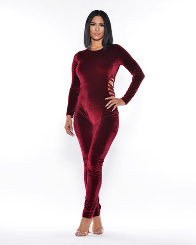 Velvet Jumpsuit (Available in 3 colors)