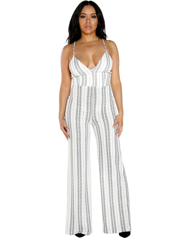 LINDA STRIPE JUMPSUIT (AVAILABLE IN 2 COLORS)