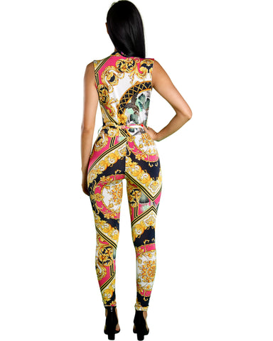 PASSION CHAIN PRINT JUMPSUIT