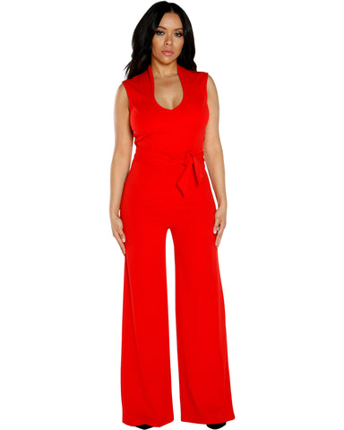 AMY FRONT TIE JUMPSUIT (Available in 2 colors)