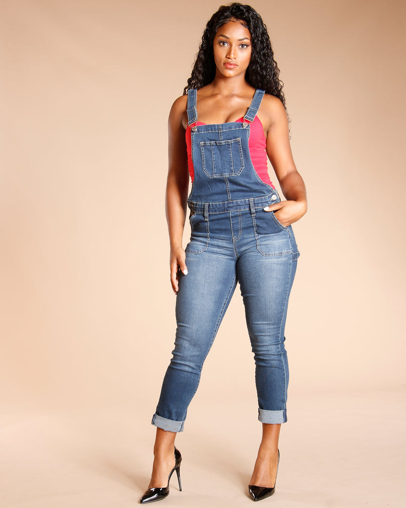 Denim Overalls - Dark Blue