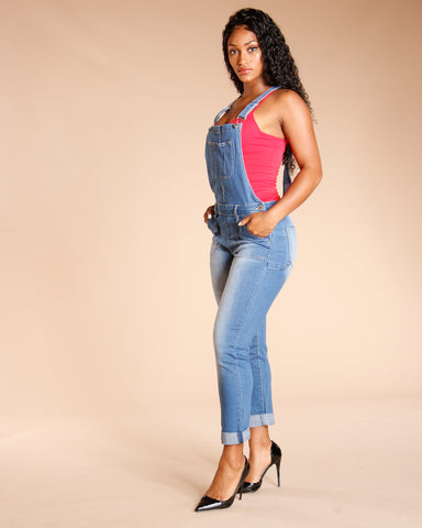 DENIM OVERALLS - MEDIUM BLUE