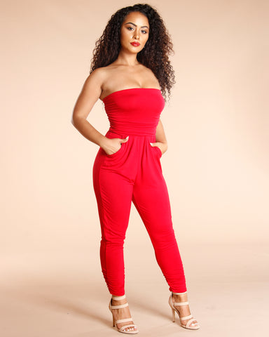 Tube Top Jumpsuit (Available In 4 Colors)