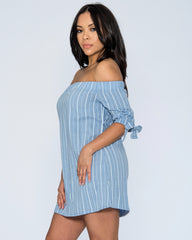 Susan Off The Shoulder Stripe Dress