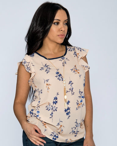LINDA FLORAL TOP (Available in 2 colors)